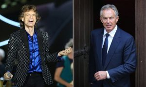 Moves like Jagger … Tony Blair, right, idolised the Stones frontman. Composite: Getty