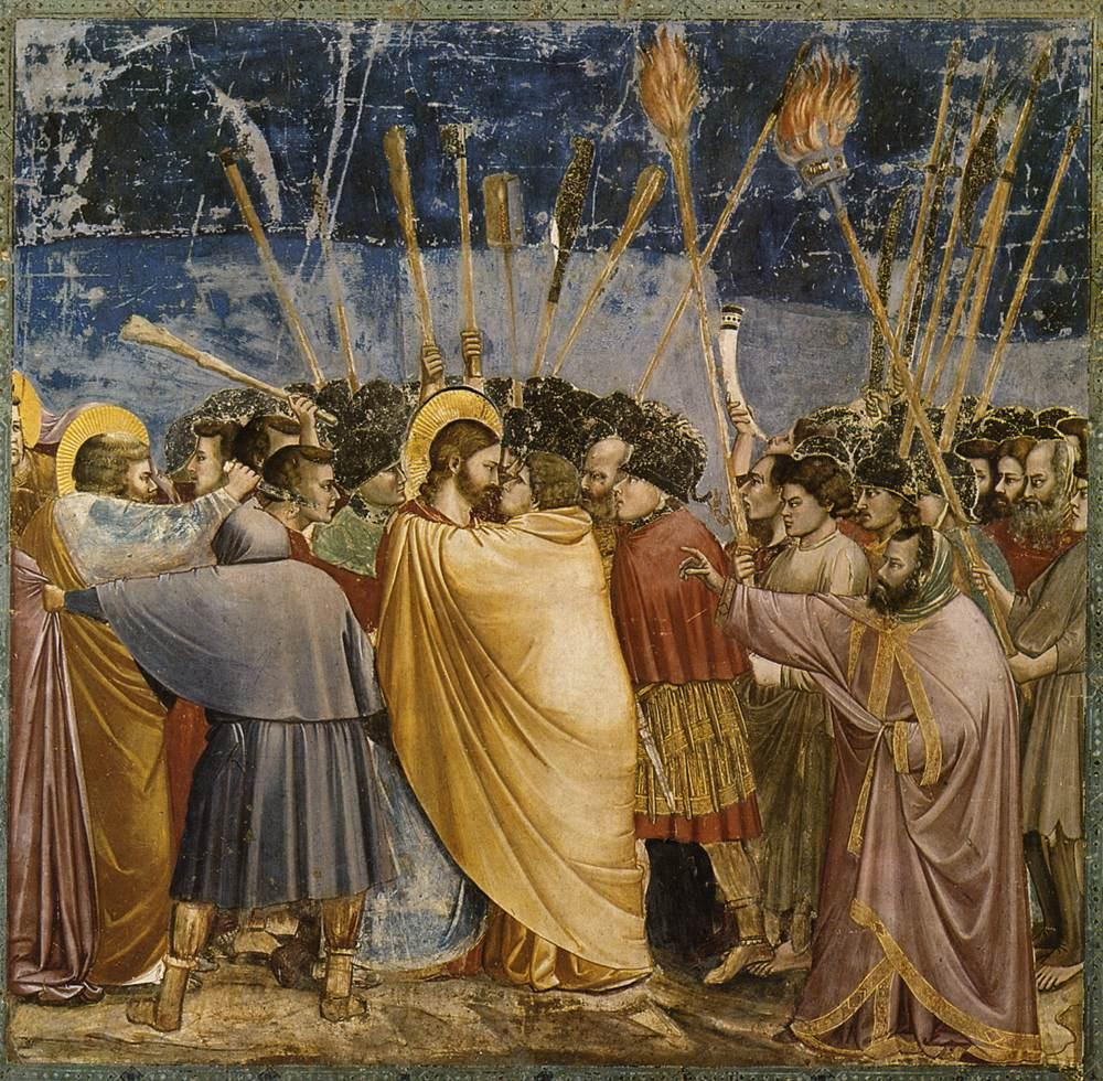 giotto_di_bondone_-_no-_31_scenes_from_the_life_of_christ_-_15-_the_arrest_of_christ_kiss_of_judas_-_wga09216