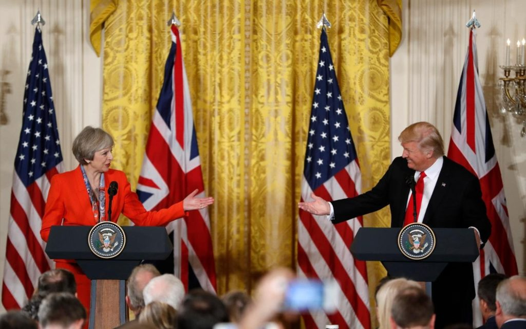 Incontro tra Theresa May e Donald Trump immagine da The Telegraph